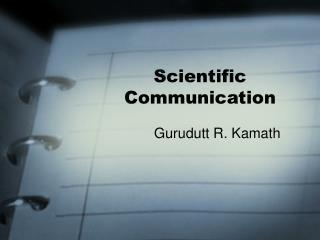 scientific communication
