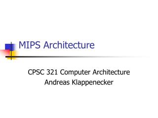 mips architecture
