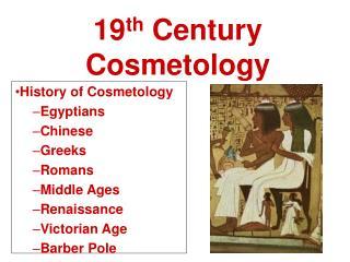 19th Century Cosmetology