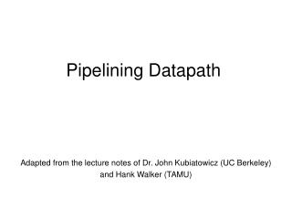 pipelining datapath