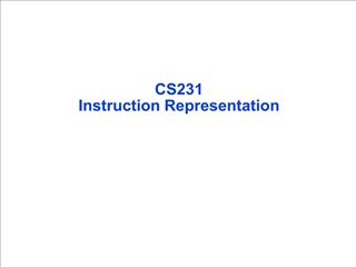 cs231   instruction representation