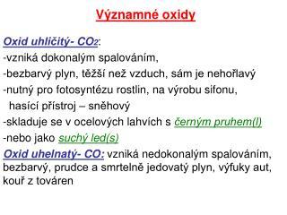 V znamn  oxidy