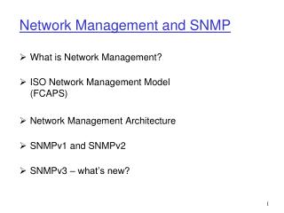 Network Management and SNMP