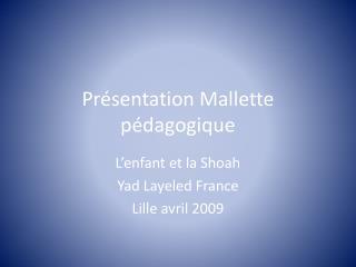 Pr sentation Mallette p dagogique