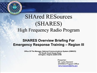 shared resources shares high frequency radio program