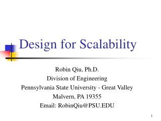 Design for Scalability