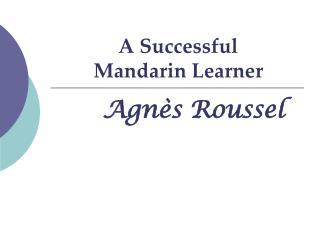 A Successful  Mandarin Learner