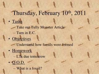 Thursday, February 10th, 2011