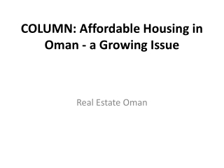 Real Estate Oman Newa