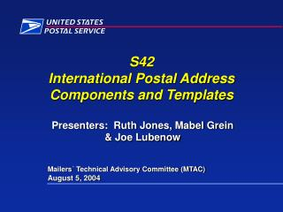 s42  international postal address  components and templates