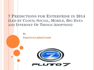 7 Predictions for Enterprise in 2014 led by Big Data Social