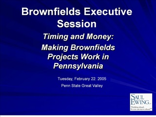brownfields executive session