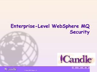 Enterprise-Level WebSphere MQ Security