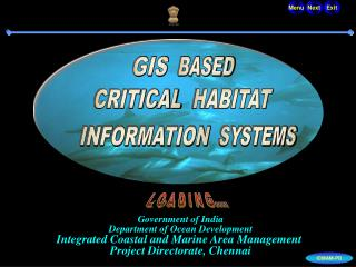 Government of India Department of Ocean Development Integrated Coastal and Marine Area Management  Project Directorate,