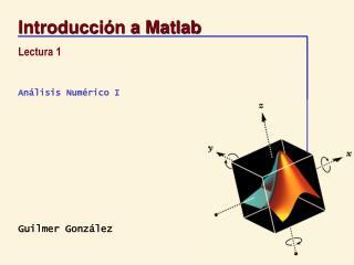 Introducci n a Matlab