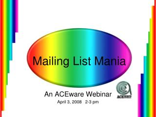 Mailing List Mania