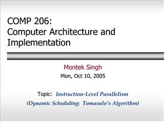 comp 206: computer architecture and implementation