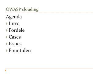 OWASP clouding