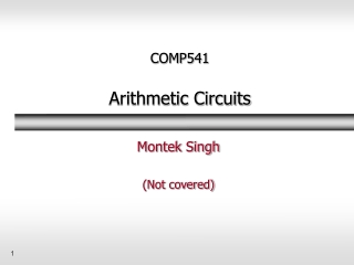 comp541  arithmetic circuits