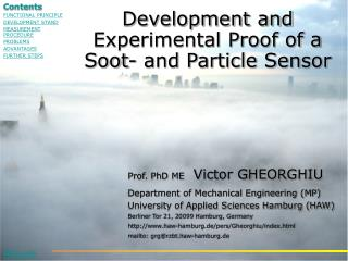 Prof. PhD ME   Victor GHEORGHIU Department of Mechanical Engineering MP University of Applied Sciences Hamburg HAW Berli