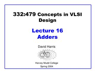 332:479 concepts in vlsi design  lecture 16 adders