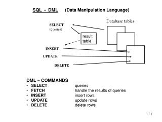 SQL  -  DML Data Manipulation Language