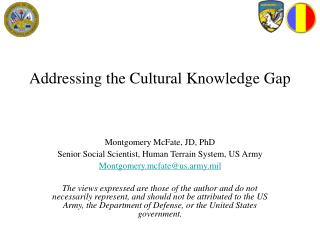 addressing the cultural knowledge gap