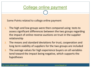 college online payment  process fee structure
