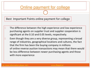 online payment for college fee system