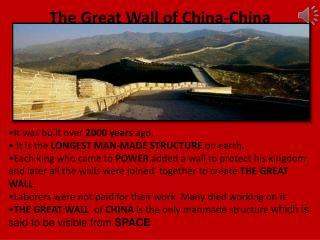The Great Wall of China-China
