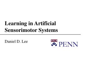 Learning in Artificial Sensorimotor Systems