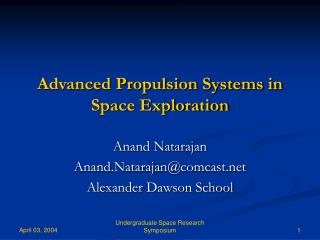 Advanced Propulsion Systems in Space Exploration