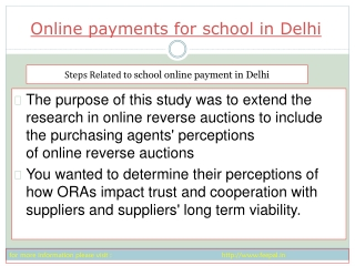 feepal provide online payment for school in Delih