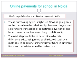 we facilities provide online payment for school in noida