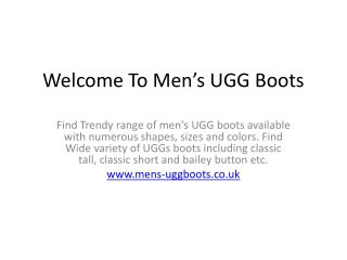 Ugg Boots For Men Cheapest Rates