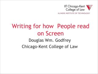 Writing for how  People read on Screen