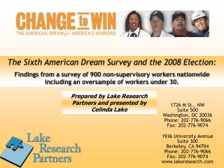 Lake Research Partners presentation on survey findings