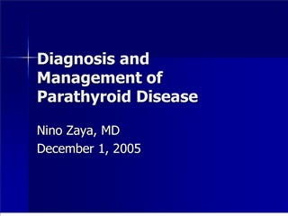 diagnosis and management of parathyroid disease