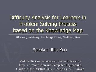 Difficulty Analysis for Learners in Problem Solving Process  based on the Knowledge Map