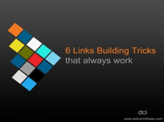 6 Link Building Tricks That Always Work