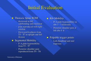 Initial Evaluation