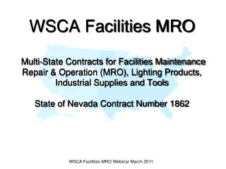 wsca facilities mro webinar march 2011