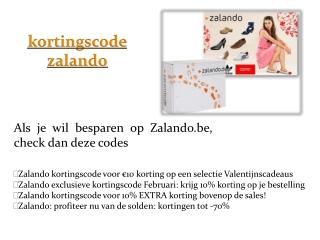 kortingscode zalando.be