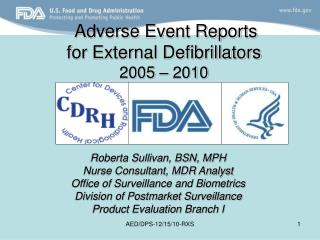 Adverse Event Reports for External Defibrillators  2005   2010