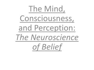 The Mind, Consciousness, and Perception: The Neuroscience of Belief
