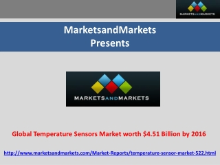 Global Temperature Sensors Market worth $4.51 Billion by 201