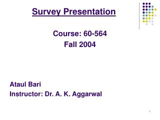 Survey Presentation