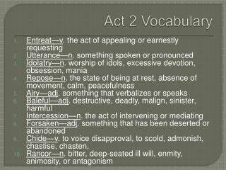 Act 2 Vocabulary