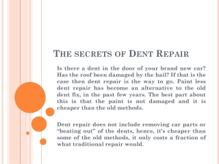 Dent removal Riverside CA | Car door ding repair San Bernard