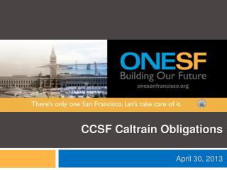 CCSF Caltrain Obligations